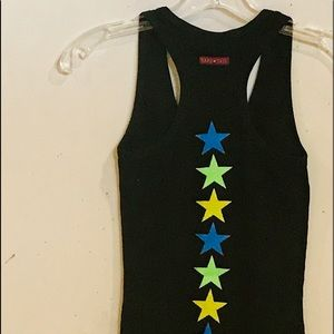 Hard Tail tank with neon stars at the back